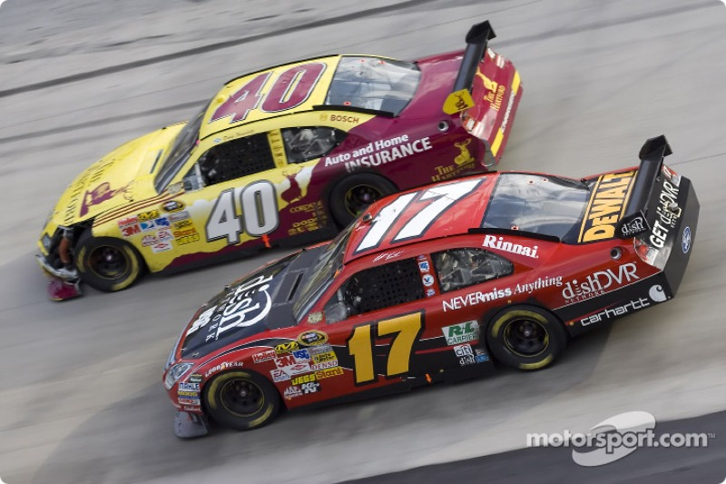 Dario Franchitti and Matt Kenseth