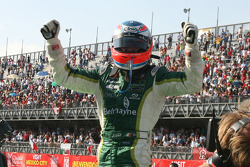 Adam Carroll, driver of A1 Team Ireland, winner the feature race
