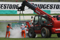 Адриан Сутиль, Force India F1 Team, VJM-01 сходит