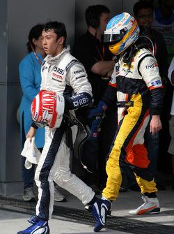 Kazuki Nakajima and Fernando Alonso