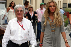 Bernie Ecclestone, President and CEO of Formula One Management and Petra Ecclestone, Daughter of Bernie Eccelestone