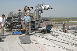 Sound crews on the roof