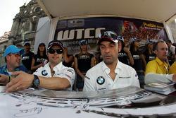 Fiesta en la ciudad de Puebla con pilotos y equipos. Andy Priaulx, BMW Team UK, BMW 320si WTCC y Jorg Muller, BMW Team Germany, BMW 320si