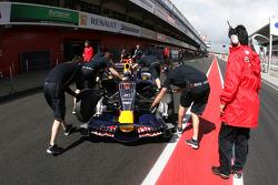 David Coulthard, Red Bull Racing, on slicks