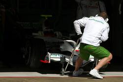 Rubens Barrichello, Honda Racing F1 Team, RA108 with new radical front wing