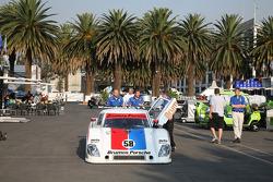 Brumos Racing Porsche Riley heads to tech inspection
