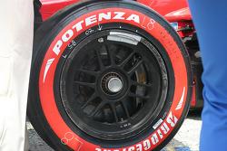Champ Car tire detail
