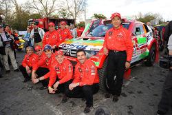 Team Repsol Mitsubishi Ralliart: Nani Roma y Lucas Cruz Senra, Luc Alphand y Gilles Picard, Stéphane Peterhansel y Jean-Paul Cottret, Hiroshi Masuoka y Pascal Maimon