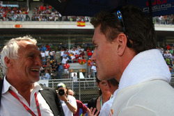 Dietrich Mateschitz, Owner of Red Bull and David Coulthard, Red Bull Racing
