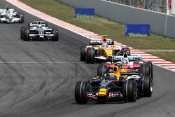Mark Webber, Red Bull Racing, Jarno Trulli, Toyota Racing