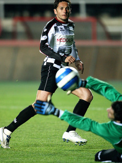 Football match Nazionale Piloti vs All Stars Team in Stadium of Galatasaray, Istanbul: Giancarlo Fisichella, Force India F1 Team