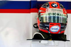 Helmet of Robert Kubica, BMW Sauber F1 Team