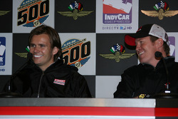 Dan Wheldon and Scott Dixon in a morning press conference