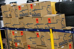 Boxs of Williams F1 Team, wheel rims