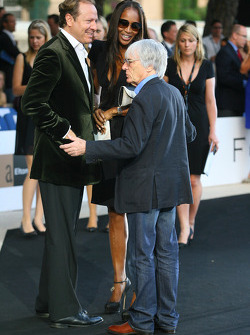 Naomi Campbell and Bernie Ecclestone