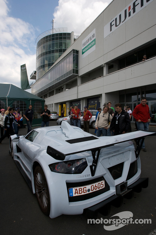 Gumpert Apollo road version on display in the paddock