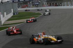 Fernando Alonso, Renault F1 Team, R28 and Felipe Massa, Scuderia Ferrari, F2008