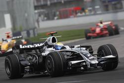 Nico Rosberg, WilliamsF1 Team, FW30 and Felipe Massa, Scuderia Ferrari, F2008