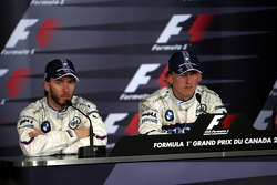 Press conference: race winner Robert Kubica with Nick Heidfeld