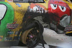 Victory lane: what is left of Kurt Busch's rear tires