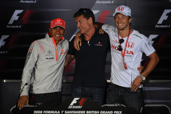 FIA press conference: Lewis Hamilton, McLaren Mercedes, David Coulthard, Red Bull Racing and Jenson Button, Honda Racing F1 Team