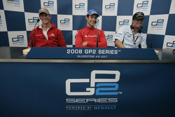 Bruno Senna, Romain Grosjean and Andreas Zuber