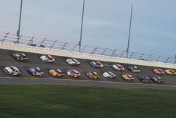 Scott Wimmer leads a group of cars