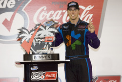 Victory lane: race winner Denny Hamlin