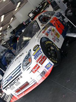 Car of Travis Kvapil in the garage