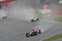 Bruno Senna leads Lucas di Grassi and Giorgio Pantano