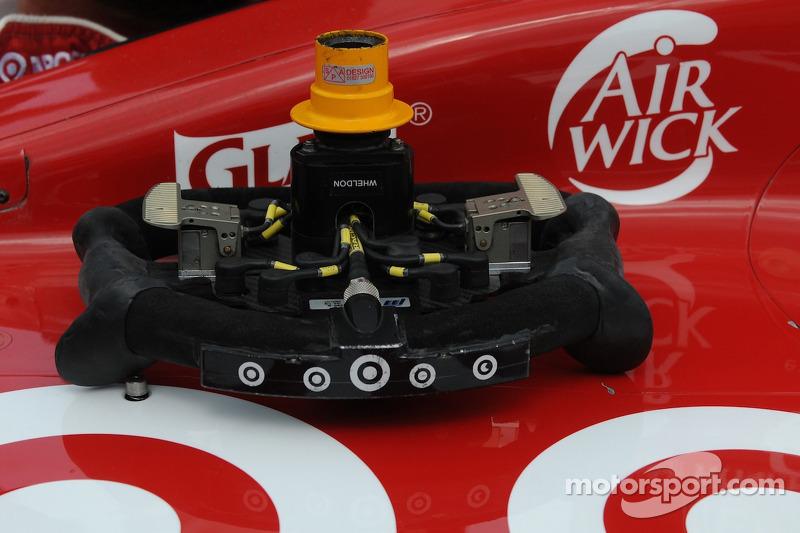 Steering wheel of Dan Wheldon