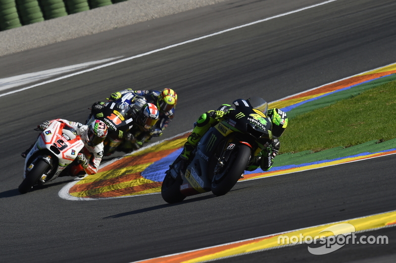 Pol Espargaro, Tech 3 Yamaha and Danilo Petrucci, Pramac Racing Ducati and Valentino Rossi, Yamaha Factory Racing