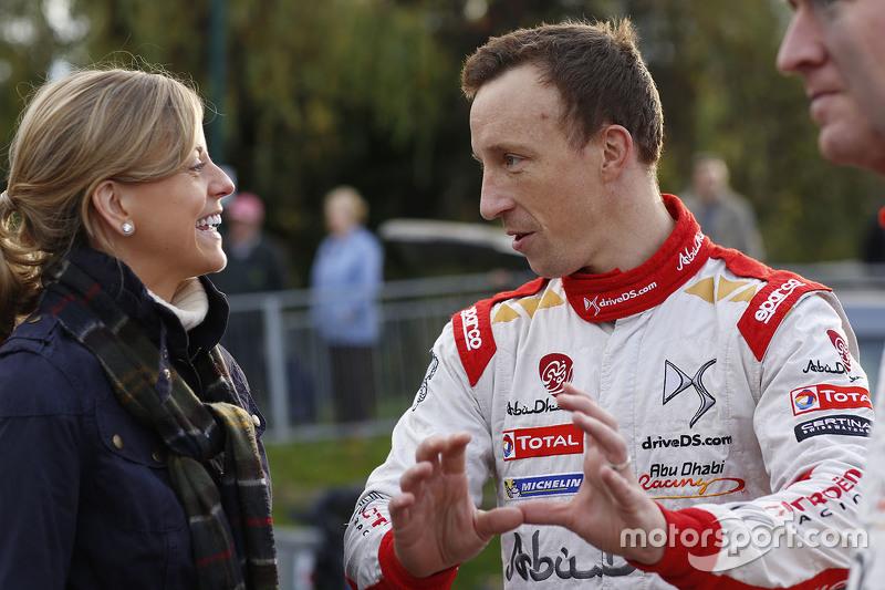 سوزي وولف مع كريس ميك ، فريق سيتروين العالمي للراليات