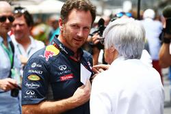 Christian Horner, Red Bull Racing Director del Equipo con Bernie Ecclestone