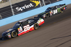 J.J. Yeley, JGL Racing Toyota and Kyle Busch, Joe Gibbs Racing Toyota