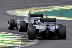 Lewis Hamilton, Mercedes AMG F1 Team e Nico Rosberg, Mercedes AMG F1 Team
