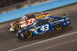 Aric Almirola, Richard Petty Motorsports Ford and Jeb Burton, BK Racing Toyota