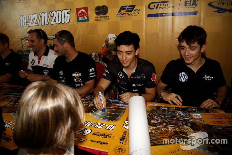 Matt Solomon, Double R Racing, Dallara Mercedes-Benz; Charles Leclerc, Van Amersfoort Racing, Dallara Volkswagen