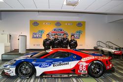 Chip Ganassi Ford GTLM Fahrern für IMSA und Le Mans: Dirk Müller, Joey Hand, Richard Westbrook und Ryan Briscoe