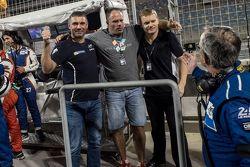 Алексей Басов, спортивный директор Сергей Злобин и Виктор Шайтар, SMP Racing