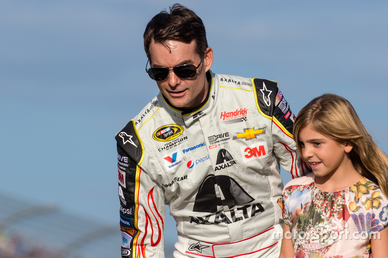 Jeff Gordon, Hendrick Motorsports Chevrolet, mit Tochter Ella Sofia