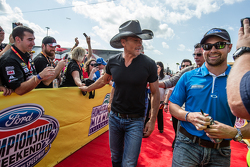 Recording artist Tim McGraw and Ricky Stenhouse Jr., Roush Fenway Racing Ford
