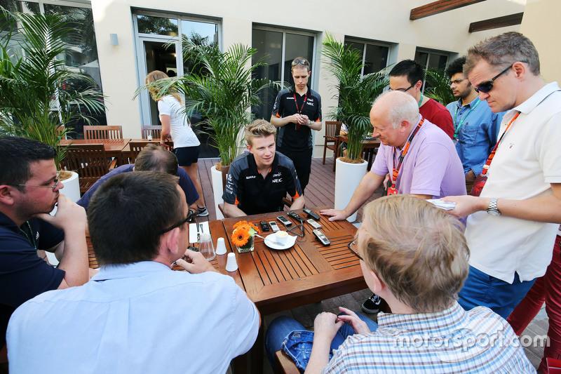 Ніко Хюлкенберг, Sahara Force India F1 з медіа