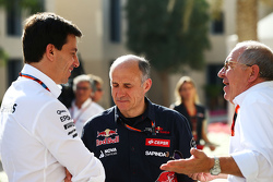 (L to R): Toto Wolff, Mercedes AMG F1 Shareholder and Executive Director with Franz Tost, Scuderia Toro Rosso Team Principal