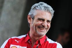 Maurizio Arrivabene, Team Principal Ferrari lors de la conférence de presse de la FIA