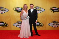 Matt Kenseth, Joe Gibbs Racing Toyota with wife Katie
