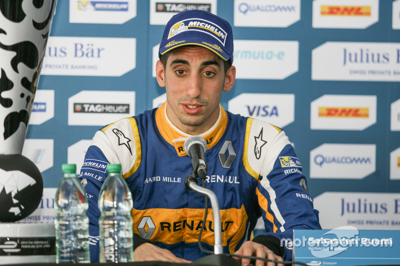 Press Conference, race winner Sébastien Buemi, Renault e.Dams