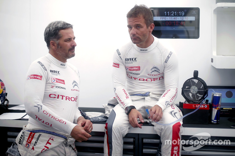 Yvan Muller, tim Citroën World Touring Car , dan Sébastien Loeb, tim Citroën World Touring Car
