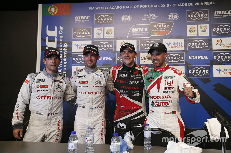Press conference: Sébastien Loeb, Citroën World Touring Car team, Jose Maria Lopez, Citroën World Touring Car team, Norbert Michelisz, Zengo Motorsport and Tiago Monteiro, Honda Racing Team JAS