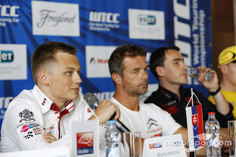 Press conference: Matej Homola, Chevrolet RML Cruze TC1, Campos Racing and Sébastien Loeb, Citroën C-Elysee WTCC, Citroën World Touring Car team
